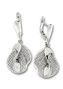 Oбеци с камъни от сребро 128087