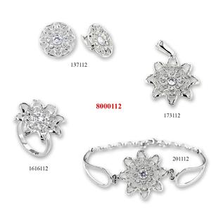 Сребърни бижута - комплекти - 8000112