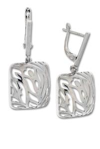 Сребърни обеци без камъни 128082