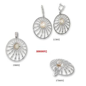 Сребърни бижута - комплект 8000092