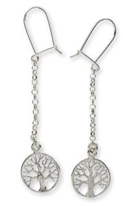 Сребърни обеци без камъни - 111637