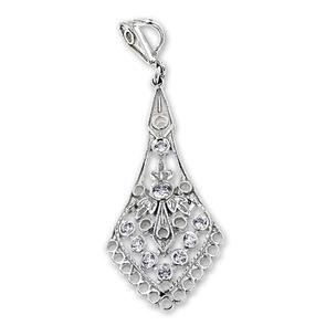 Висулки от сребро с камък - 174135