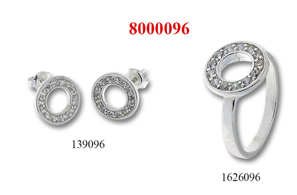 Сребърни бижута - комплект 8000096