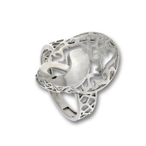 Сребърен пръстен без камък 1486084