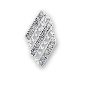 Висулки от сребро с камък - 186105