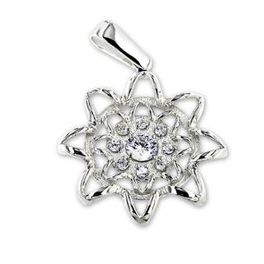 Висулки от сребро с камък - 173112