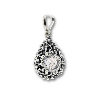 Висулки от сребро с камък - 182095