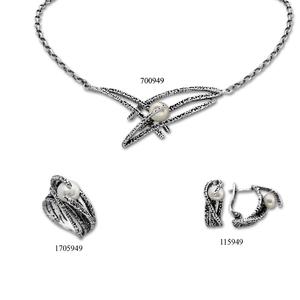 Сребърни бижута - комплект 8000949