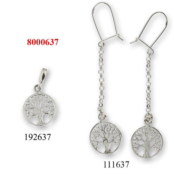 Сребърни бижута - комплект 8000637