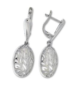 Сребърни обеци без камъни - 128080