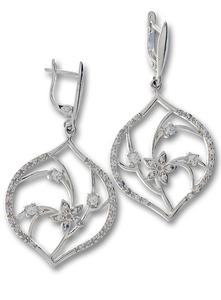 Oбеци с камъни от сребро 140091