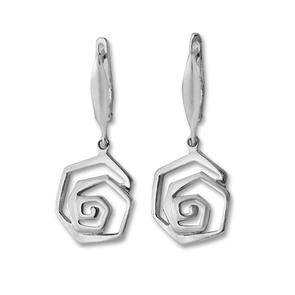 Сребърни обеци без камъни - 133555