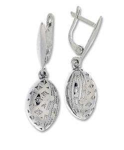 Сребърни обеци без камъни - 128083