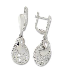 Сребърни обеци без камъни - 128084