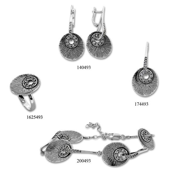 Сребърни бижута - комплект 8000493
