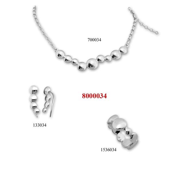 Сребърни бижута - комплект 8000034