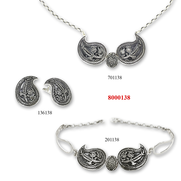 Сребърни бижута - комплект 8000138