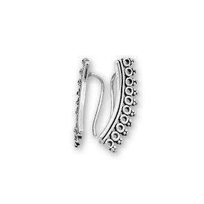 Сребърни обеци без камъни - 111190