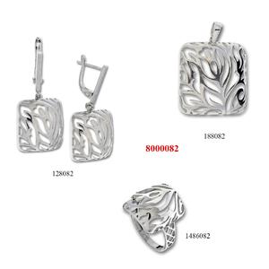 Сребърни бижута - комплект 8000082
