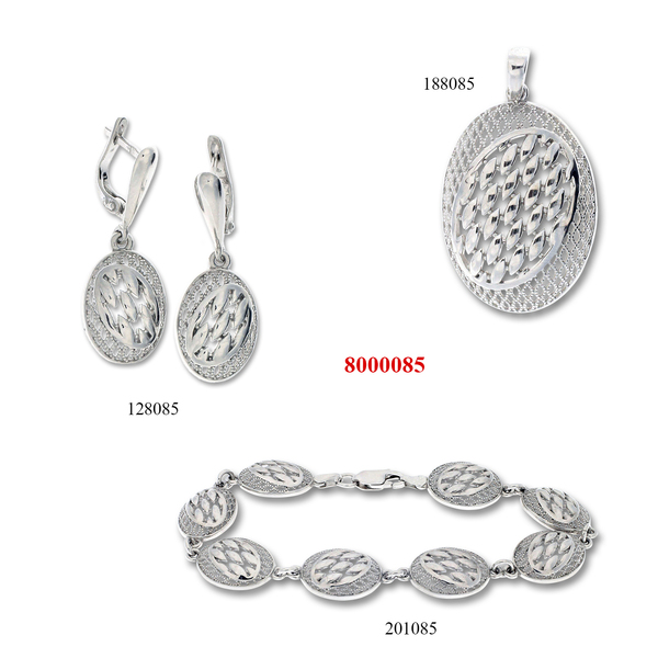Сребърни бижута - комплект 8000085