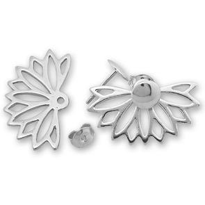 Сребърни обеци без камъни - 133293