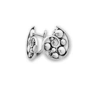 Сребърни обеци без камъни - 133009