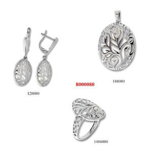 Сребърни бижута - комплект 8000080