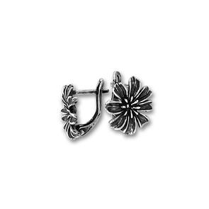Сребърни обеци без камъни - 111525