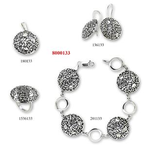 Сребърни бижута - комплект 8000133