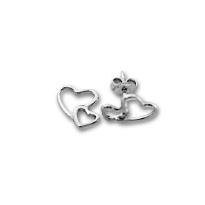 Сребърни обеци без камъни - 111513
