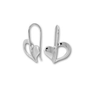 Сребърни обеци без камъни - 111531