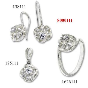 Сребърни бижута - комплект 8000111