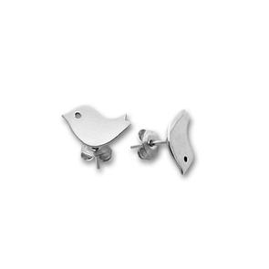 Сребърни обеци без камъни - 111551