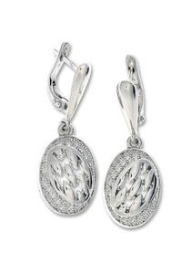 Сребърни обеци без камъни - 128085