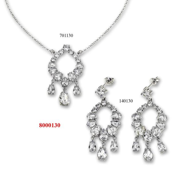Сребърни бижута - комплект 8000130