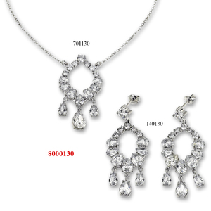 Сребърни бижута - комплекти - 8000130