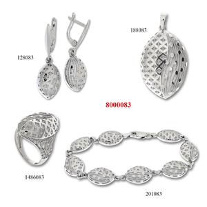 Сребърни бижута - комплект 8000083