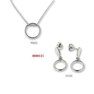 Сребърни бижута - комплект 8000121