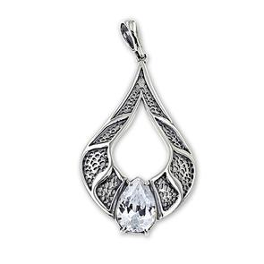 Висулки от сребро с камък - 182137