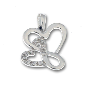 Висулки от сребро с камък - 174636