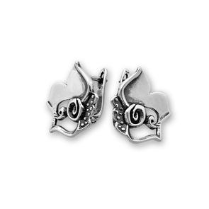 Сребърни обеци без камъни - 133005