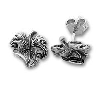 Сребърни обеци без камъни - 111481