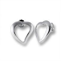 Сребърни обеци без камъни - 111447