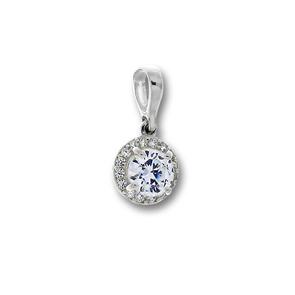 Висулки от сребро с камък - 186256