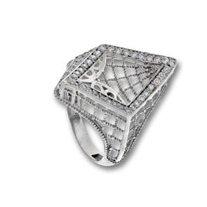 Пръстени с камък от сребро - 1486088