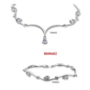 Сребърни бижута - комплект 8000602