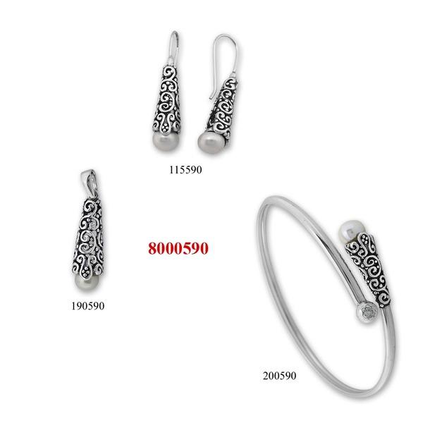 Сребърни бижута - комплект 8000590