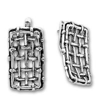 Сребърни обеци без камъни 136937