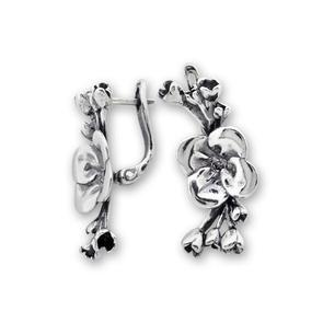 Сребърни обеци без камъни - 132049