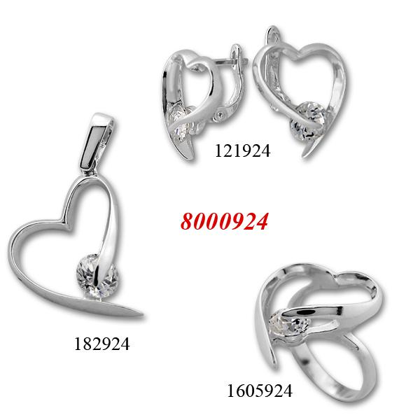 Сребърни бижута - комплект 8000924